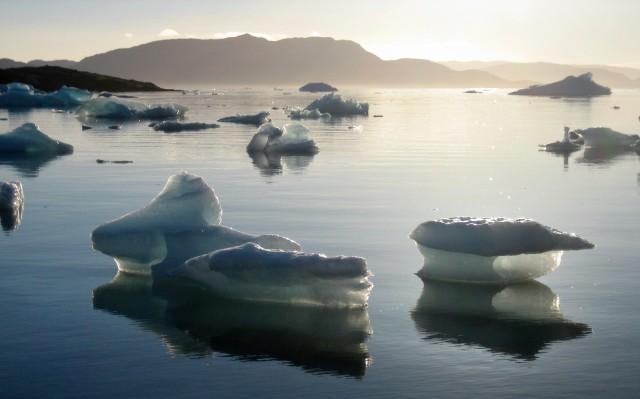 Narsaq Bay  -  rester av isfjell